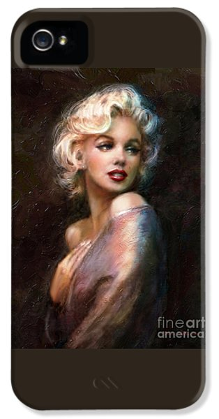 Smiling iPhone 5 Cases - Marilyn romantic WW 1 iPhone 5 Case by Theo Danella