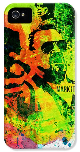 Tv Show iPhone 5 Cases - Mark it Zero Watercolor iPhone 5 Case by Naxart Studio