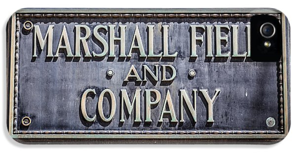 Brass iPhone 5 Cases - Marshall Field and Company Sign in Chicago iPhone 5 Case by Paul Velgos