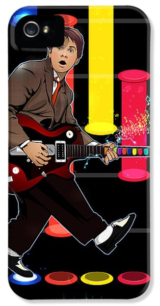 Michael J Fox iPhone 5 Cases - Marty McFly plays Guitar Hero iPhone 5 Case by Akyanyme