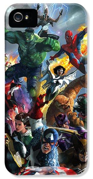 Storm iPhone 5 Cases - Marvel Comics Secret Wars iPhone 5 Case by Ryan Barger