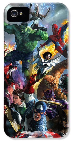 Spider iPhone 5 Cases - Marvel Comics Secret Wars iPhone 5 Case by Ryan Barger
