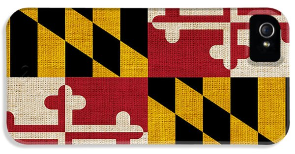 Washington iPhone 5 Cases - Maryland state flag iPhone 5 Case by Pixel Chimp
