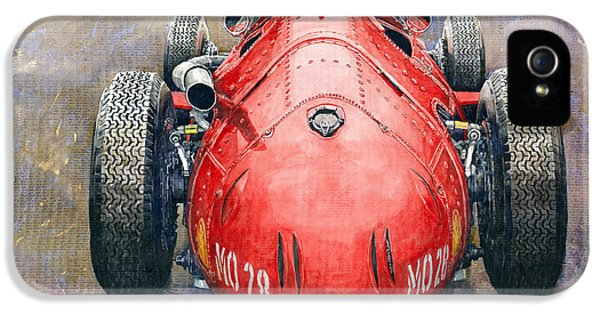 Back iPhone 5 Cases - Maserati 250F Back View iPhone 5 Case by Yuriy Shevchuk