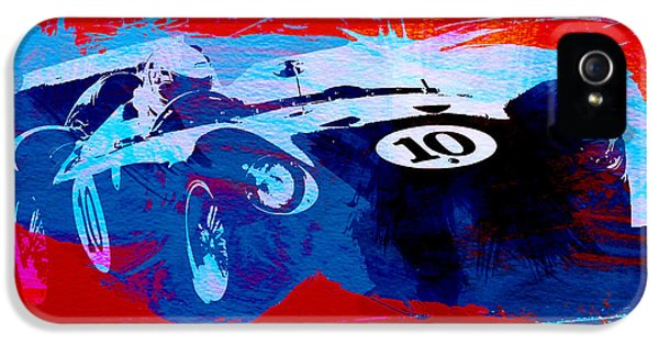 Italian Classic Car iPhone 5 Cases - Maserati on the Race Track 1 iPhone 5 Case by Naxart Studio