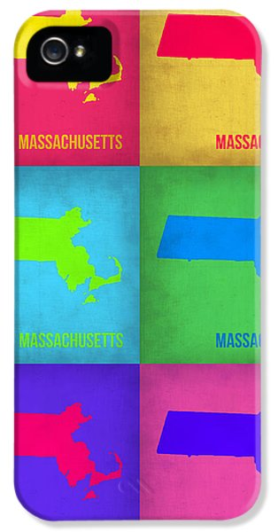 Massachusetts iPhone 5 Cases - Massachusetts Pop Art Map 1 iPhone 5 Case by Naxart Studio