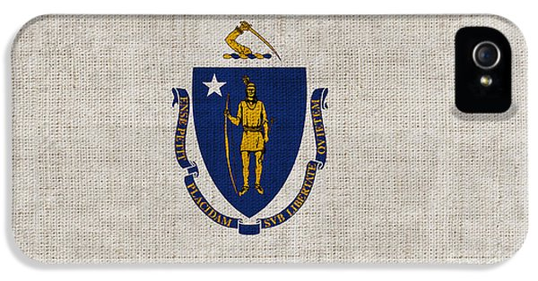 Massachusetts iPhone 5 Cases - Massachusetts State Flag iPhone 5 Case by Pixel Chimp