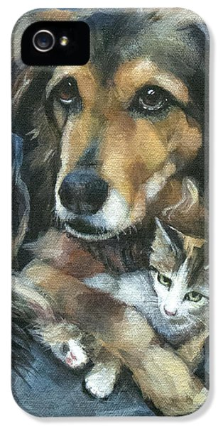 Disc iPhone 5 Cases - Maty and Lennox iPhone 5 Case by Mary Medrano