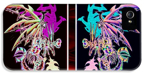 Mech Dragons Pastel IPhone 5 / 5s Case by Shawn Dall