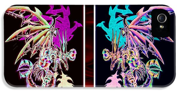 Mech iPhone 5 Cases - Mech Dragons Pastel iPhone 5 Case by Shawn Dall