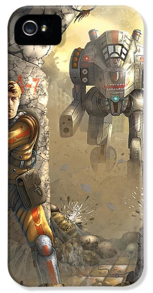 Mech iPhone 5 Cases - Mech iPhone 5 Case by Evgeny Chudin