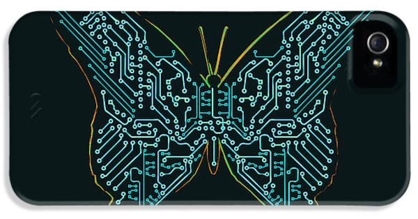 Circuits iPhone 5 Cases - Mechanic butterfly iPhone 5 Case by Budi Kwan