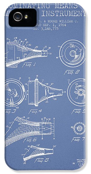 Medical iPhone 5 Cases - Medical Instrument Patent from 1964 - Light Blue iPhone 5 Case by Aged Pixel