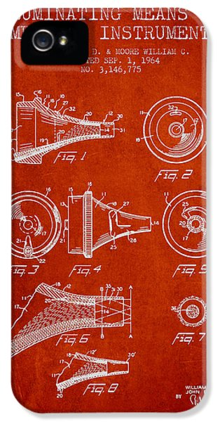Medical iPhone 5 Cases - Medical Instrument Patent from 1964 - Red iPhone 5 Case by Aged Pixel