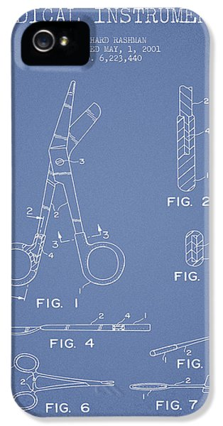 Medical iPhone 5 Cases - Medical Instruments Patent from 2001 - Light Blue iPhone 5 Case by Aged Pixel