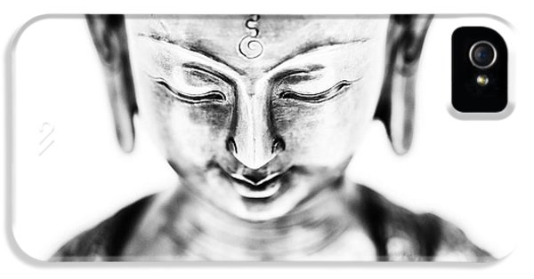 Medicine iPhone 5 Cases - Medicine Buddha Monochrome iPhone 5 Case by Tim Gainey