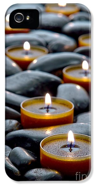 Burnt iPhone 5 Cases - Meditation Candles iPhone 5 Case by Olivier Le Queinec