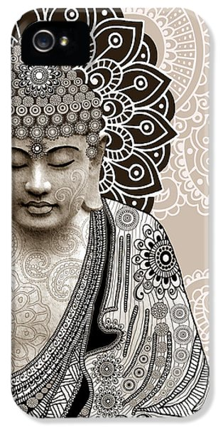 Meditation Mehndi - Paisley Buddha Artwork - Copyrighted IPhone 5 / 5s Case by Christopher Beikmann