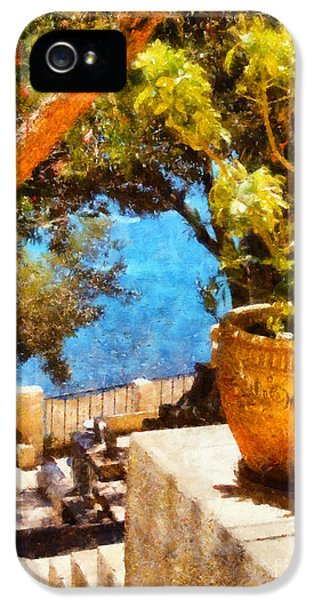 Oil House iPhone 5 Cases - Mediterranean steps iPhone 5 Case by Pixel Chimp