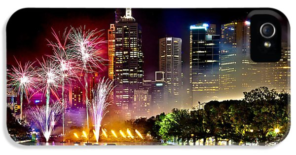 Firework iPhone 5 Cases - Melbourne Fireworks Spectacular iPhone 5 Case by Az Jackson