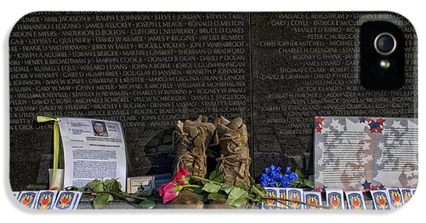 Vietnam Wall iPhone 5 Cases - Memories at the Wall iPhone 5 Case by Mountain Dreams