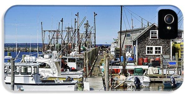 Shanty iPhone 5 Cases - Menemsha Harbor iPhone 5 Case by John Greim