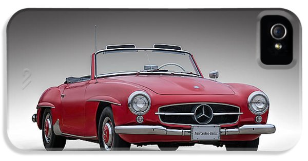 Roadsters iPhone 5 Cases - Mercedes-Benz 190 SL iPhone 5 Case by Douglas Pittman