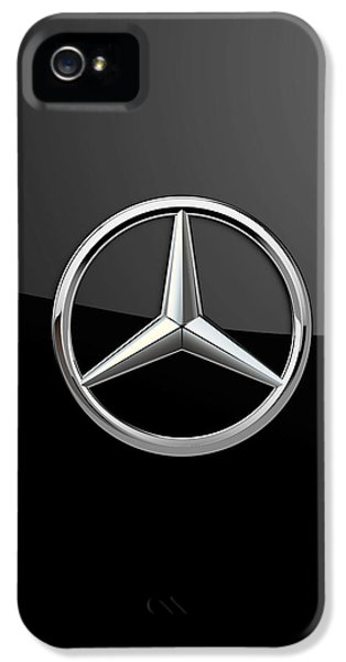Badge iPhone 5 Cases - Mercedes-Benz - 3D Badge on Black iPhone 5 Case by Serge Averbukh