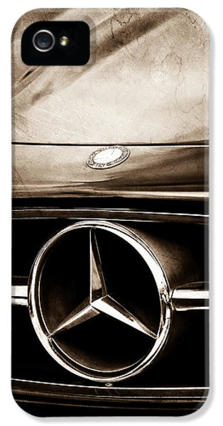 Car iPhone 5 Cases - Mercedes-Benz Grille Emblem iPhone 5 Case by Jill Reger