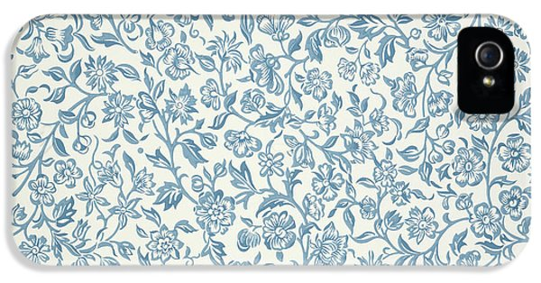 Arts And Crafts Movement iPhone 5 Cases - Merton Wallpaper Design iPhone 5 Case by William Morris
