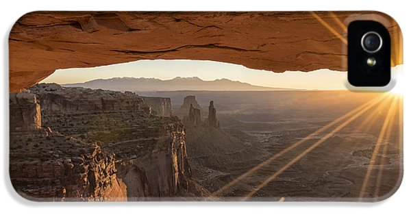 National iPhone 5 Cases - Mesa Arch Sunrise 4 - Canyonlands National Park - Moab Utah iPhone 5 Case by Brian Harig