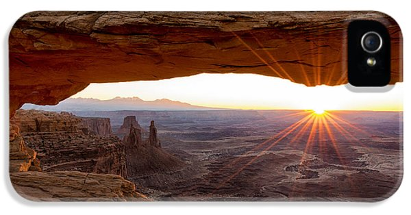 Scenic iPhone 5 Cases - Mesa Arch Sunrise - Canyonlands National Park - Moab Utah iPhone 5 Case by Brian Harig
