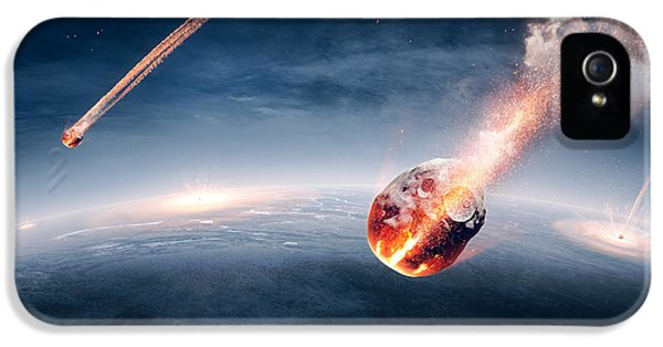 Burn iPhone 5 Cases - Meteorites on their way to earth iPhone 5 Case by Johan Swanepoel