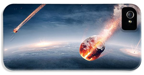 Apocalypse iPhone 5 Cases - Meteorites on their way to earth iPhone 5 Case by Johan Swanepoel
