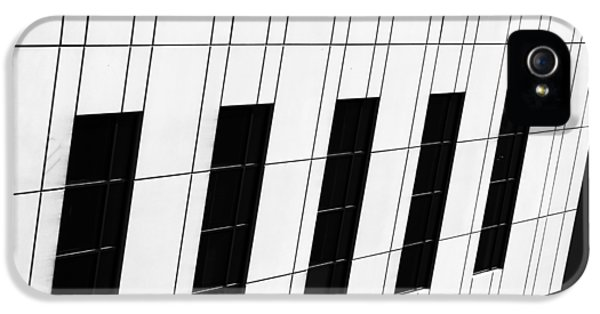 Asymmetrical iPhone 5 Cases - Metropolis BW iPhone 5 Case by Christi Kraft