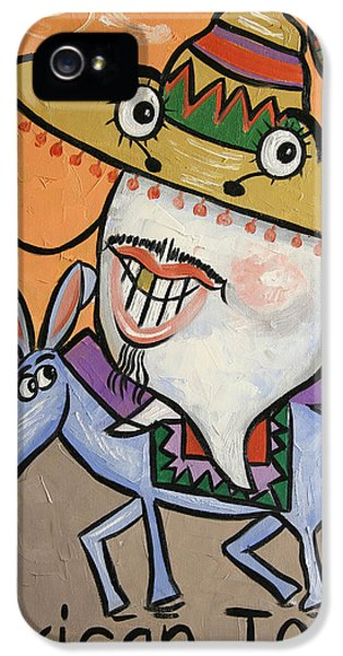 Mexican iPhone 5 Cases - Mexican Tooth iPhone 5 Case by Anthony Falbo