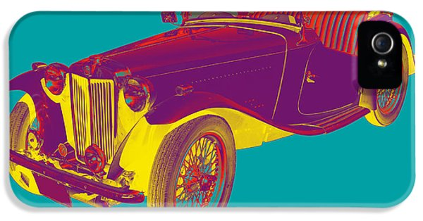 Mg Convertible Antique Car Pop Art IPhone 5 / 5s Case by Keith Webber Jr