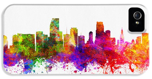 Miami Florida Skyline IPhone 5 / 5s Case by Aged Pixel