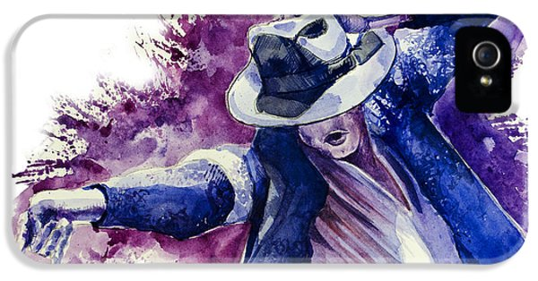Moon Walk iPhone 5 Cases - Michael Jackson 10 iPhone 5 Case by MB Art factory