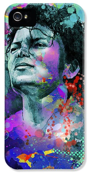 Moon Walk iPhone 5 Cases - Michael Jackson 12 iPhone 5 Case by MB Art factory