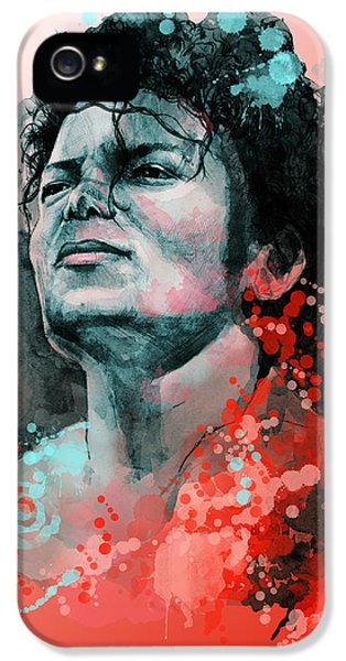 Moon Walk iPhone 5 Cases - Michael Jackson 13 iPhone 5 Case by MB Art factory