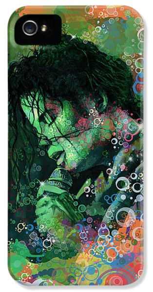 Moon Walk iPhone 5 Cases - Michael Jackson 15 iPhone 5 Case by MB Art factory