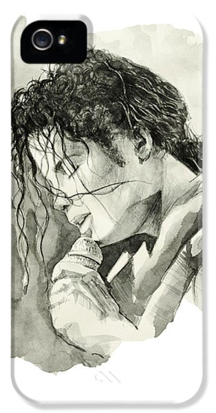 Moon Walk iPhone 5 Cases - Michael Jackson 3 iPhone 5 Case by MB Art factory