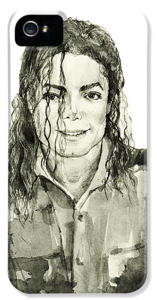 Moon Walk iPhone 5 Cases - Michael Jackson 4 iPhone 5 Case by MB Art factory