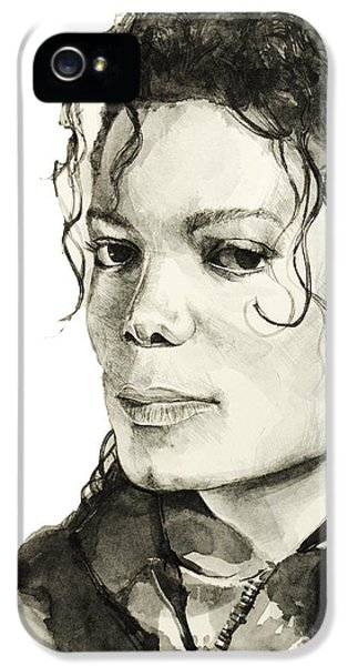 Moon Walk iPhone 5 Cases - Michael Jackson 6 iPhone 5 Case by MB Art factory