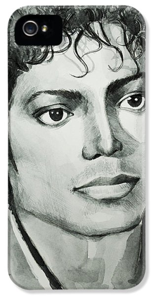 Moon Walk iPhone 5 Cases - Michael Jackson 7 iPhone 5 Case by MB Art factory