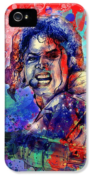 Moon Walk iPhone 5 Cases - Michael Jackson 8 iPhone 5 Case by MB Art factory