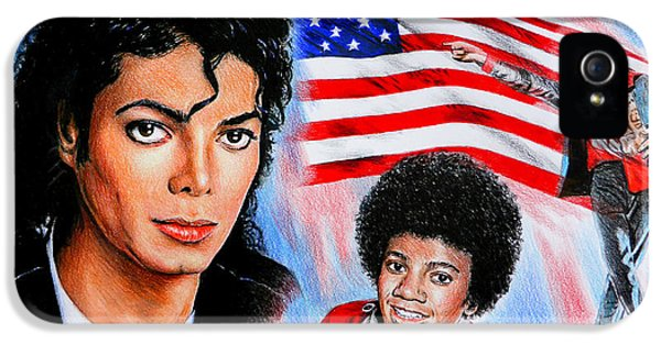 Mj iPhone 5 Cases - Michael Jackson American Legend iPhone 5 Case by Andrew Read
