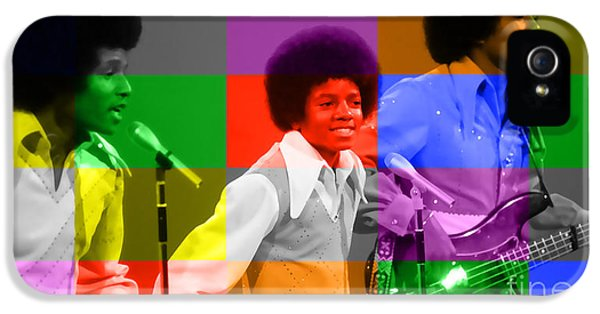 Michael Jackson iPhone 5 Cases - Michael Jackson and the Jackson 5 iPhone 5 Case by Marvin Blaine