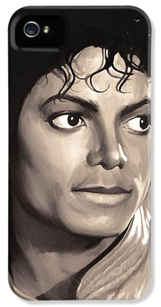 Michael Jackson iPhone 5 Cases - Michael Jackson Artwork 1 iPhone 5 Case by Sheraz A
